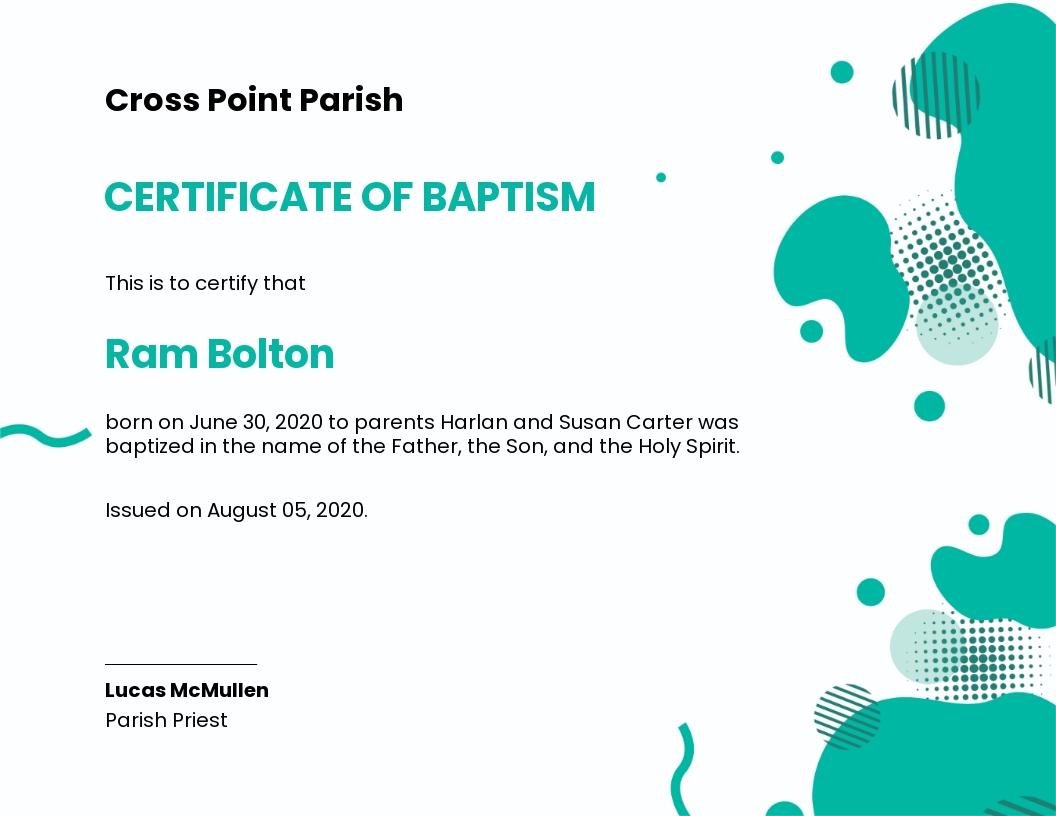 Creative Baptism Certificate Template.jpe