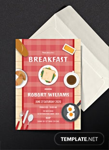 Breakfast Party Invitation Template