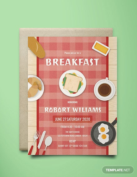 Free Breakfast Party Invitation Template