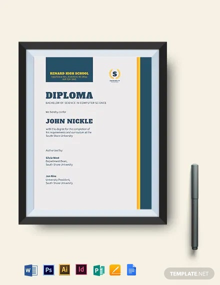 Computer Diploma Certificate Template