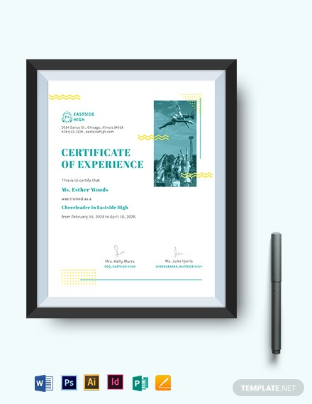 Editable Cheerleading Certificate Template