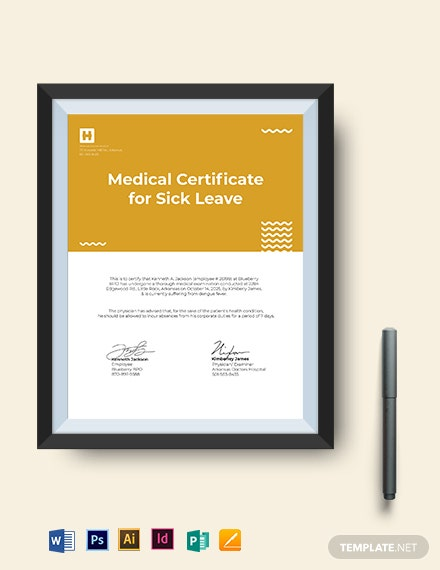 employee medical certificate format for sick leave template