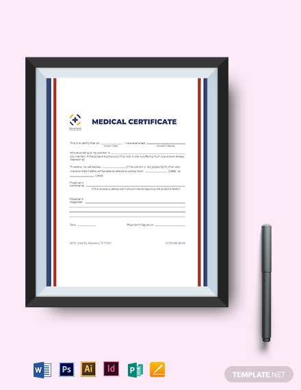 european medical certificate template