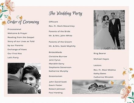 free tri fold wedding program template download 30 program