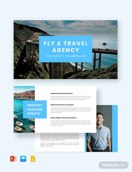 Corporate Travel Agency Presentation Template