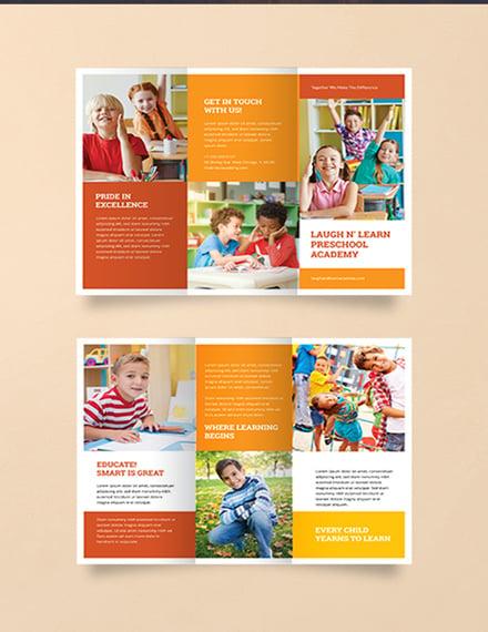 FREE Preschool Brochure Template