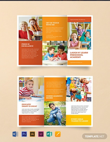 preschool brochure ideas free preschool brochure template word doc psd indesign apple mac apple mac pages