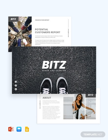 Fashion Shoes Presentation Template