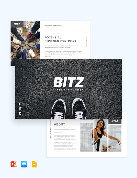 Fashion Shoes Presentation Template