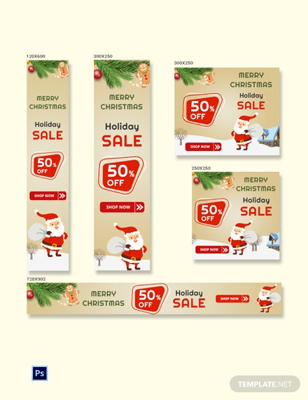 Christmas Sale Banner Ads Template