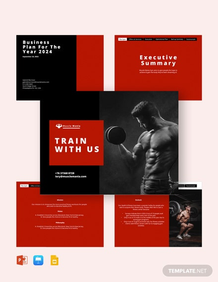 fitness pitch deck template