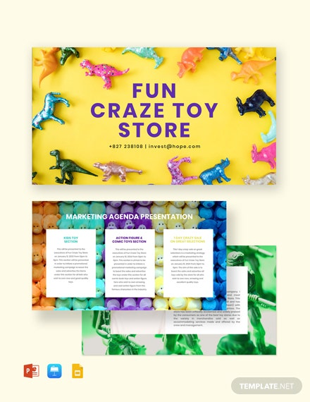 Kids Store Presentation Template