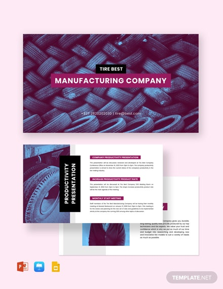Manufacturing Presentation Template