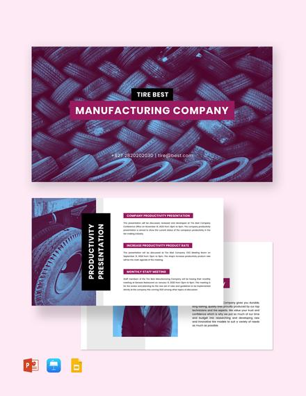 Manufacturing Presentation Template