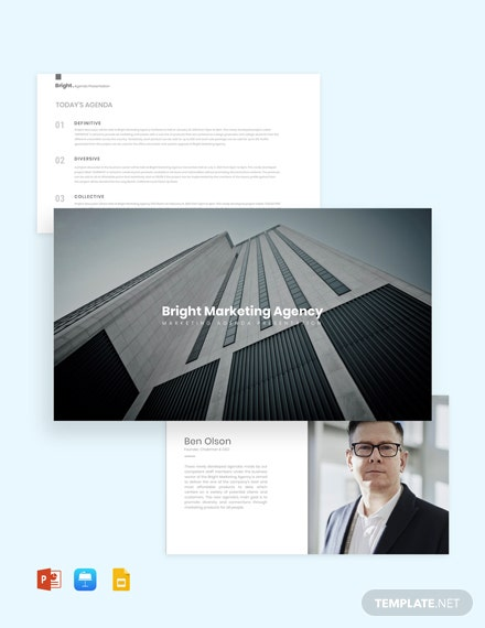 Marketing Agenda Presentation Template
