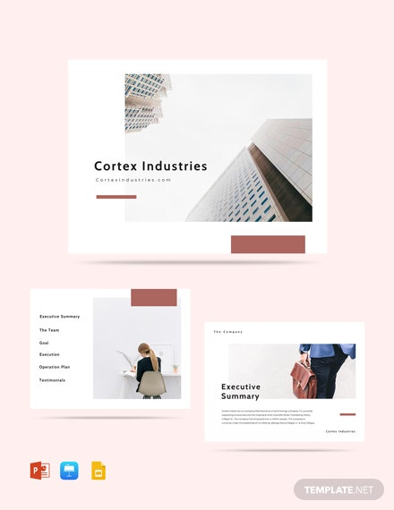 Minimalist Pitch Deck Template