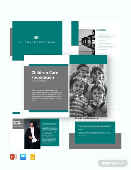 Nonprofit Pitch Deck Template