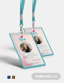Free Spa Identity Card Template