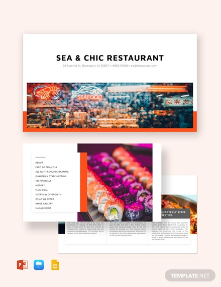 Restaurant Business Presentation Template