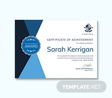 Free Academic Achievement Certificate Template