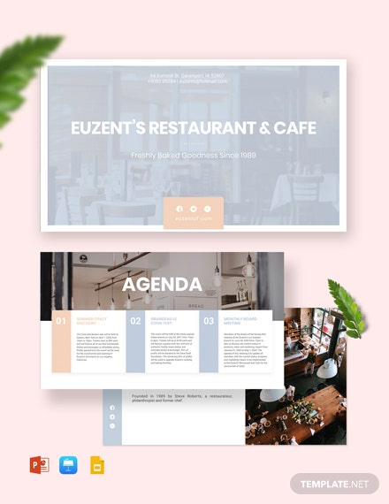 Restaurant Presentation Template