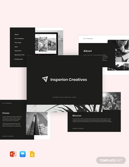 Sample Pitch Deck Template