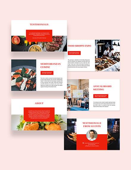 Simple Restaurant Presentation Download