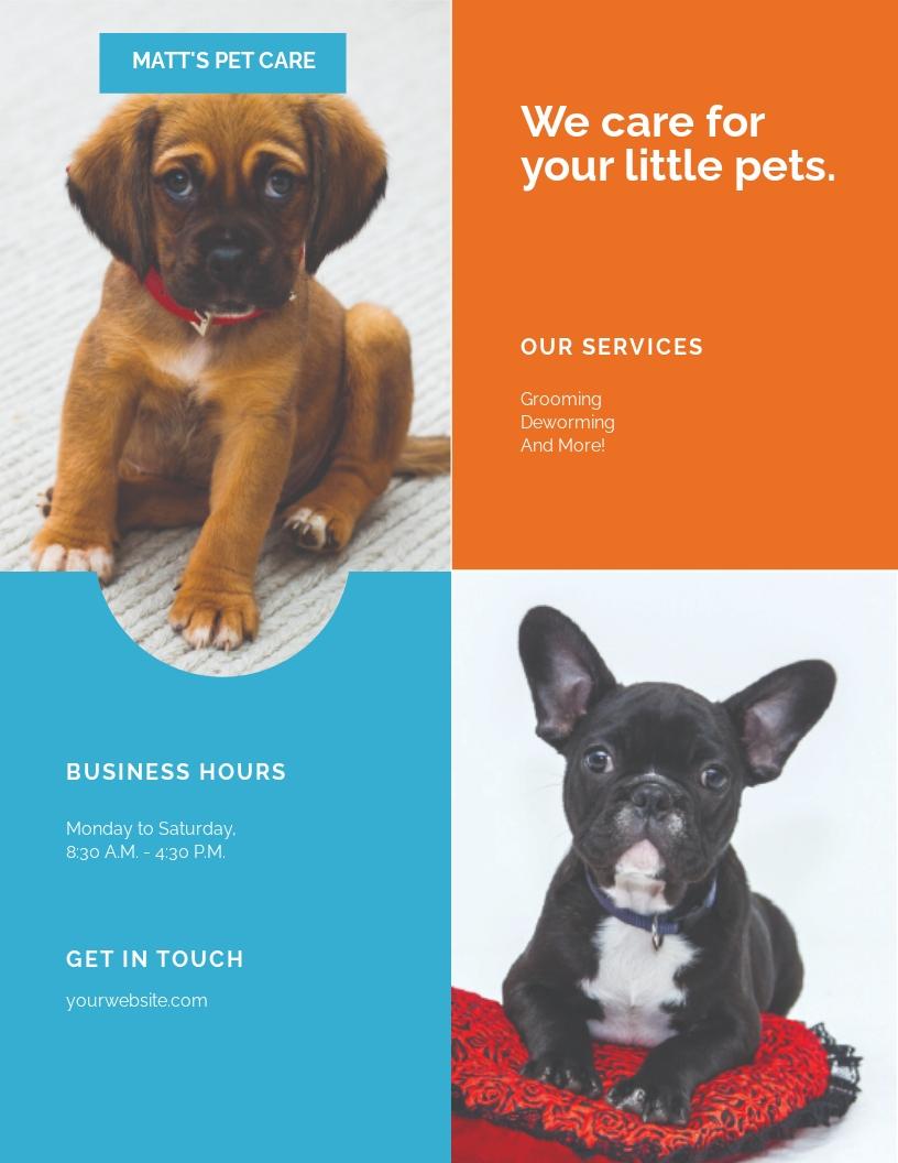 Pet Care Flyer Template.jpe