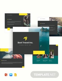 Travel Pitch Deck Template