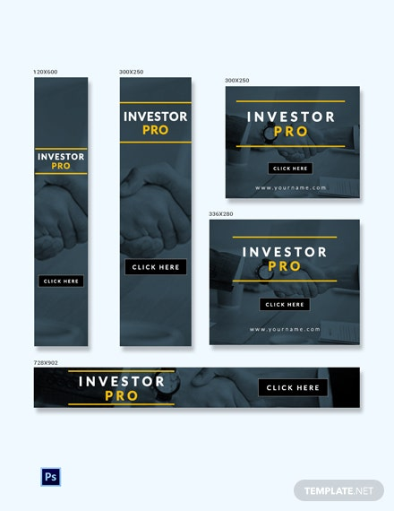 Free Investor Ad Banner Template