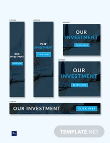 Free Investment Ad Banner Template