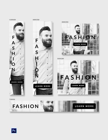 Free Men Fashion Ad Banner Template