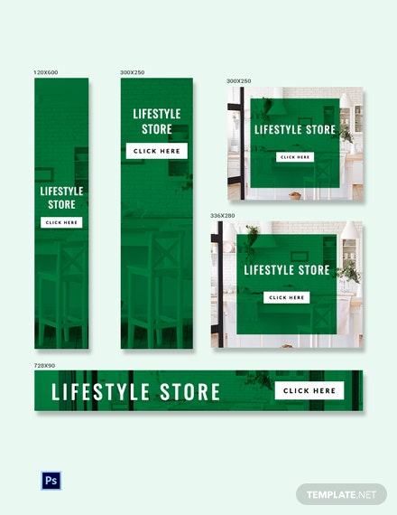 Lifestyle Banner Ads Template