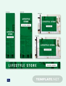 Free Lifestyle Banner Ads Template