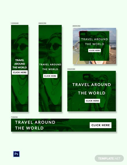 Free Travel Ad Banner Template