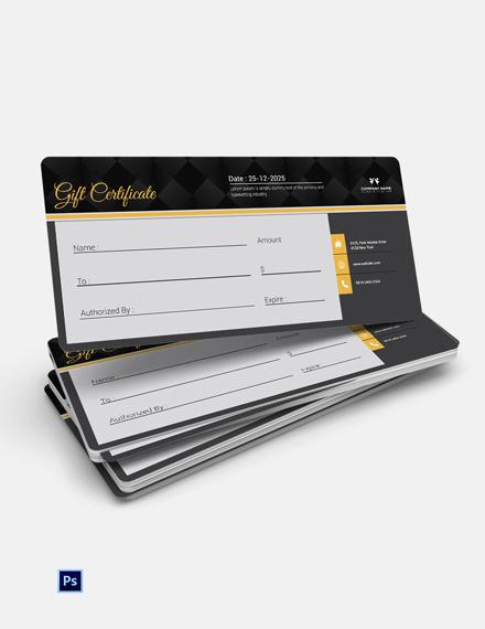 Free Elegant Gift Certificate Template