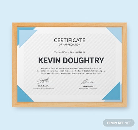 Free Certificate of Appreciation Template