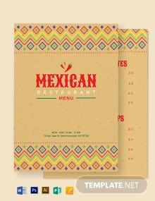 Mexican Restaurant Menu Template