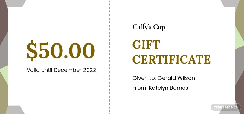 Free Cafe Gift Certificate Template.jpe