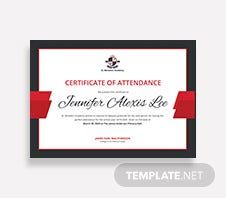 Free conference attendance certificate template in adobe photoshop free attendance certificate for college student template yelopaper Image collections
