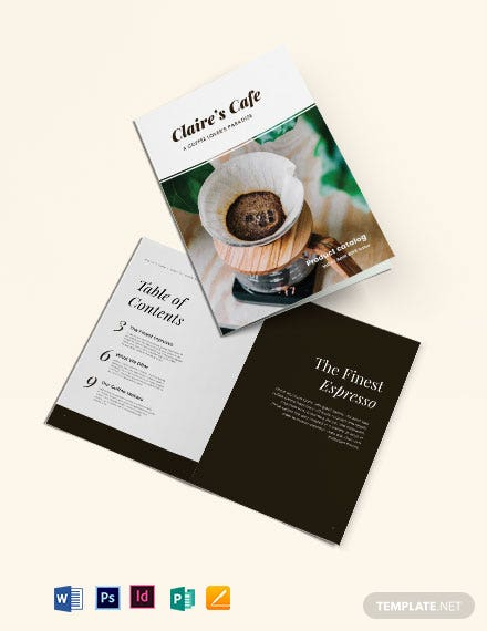 Coffee Product Catalog Template