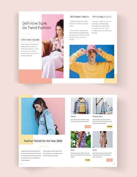 Editable Fashion Catalog Template