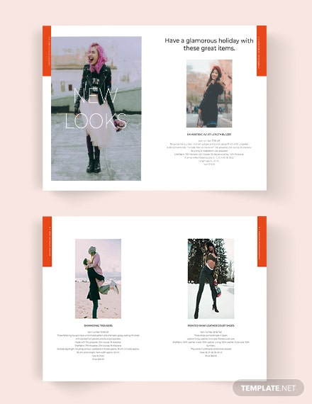Editable Fashion Lookbook Catalog