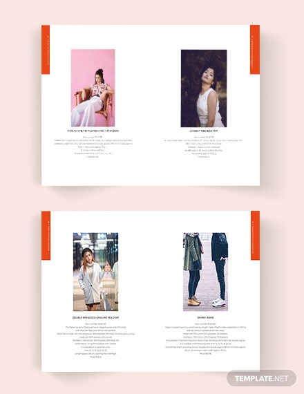Printable Fashion Lookbook Catalog