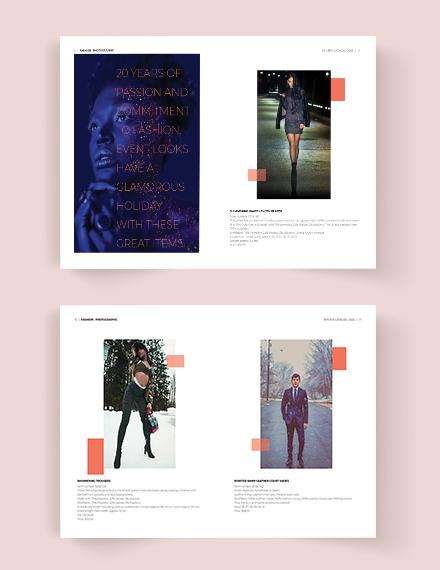 Editable Fashion Photographic Catalog
