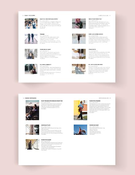 Fashion Photographic Catalog Template