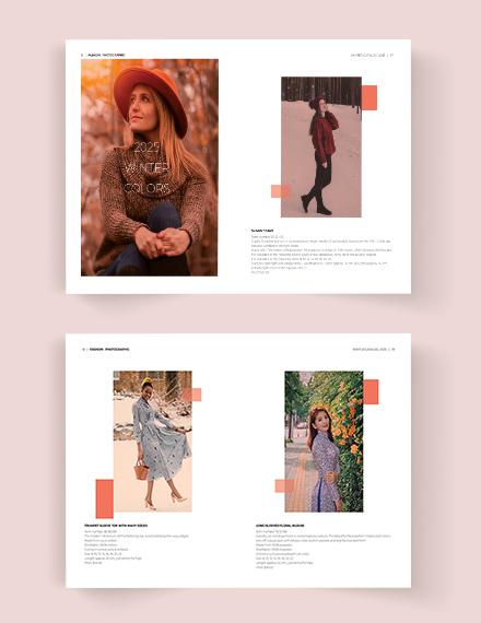 Printable Fashion Photographic Catalog