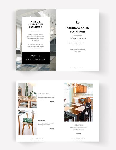Editable Interior Design Catalog Template