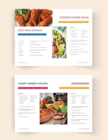Editable Printable Cookbook Catalog