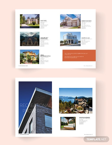 Real Estate Catalog Template [Free PSD] - InDesign, Word, Apple Pages, Publisher